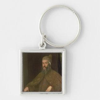 Doge Alvise Mocenigo Silver-Colored Square Keychain