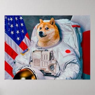Doge astronaut-doge-shibe-doge dog-cute doge poster