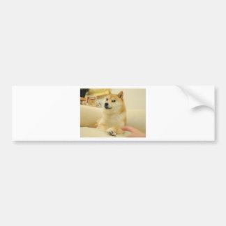 Doge Car Bumper Sticker