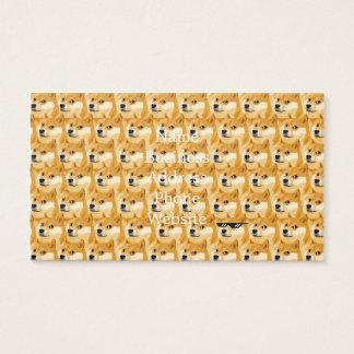 Doge cartoon - doge texture - shibe - doge business card