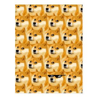 Doge cartoon - doge texture - shibe - doge postcard
