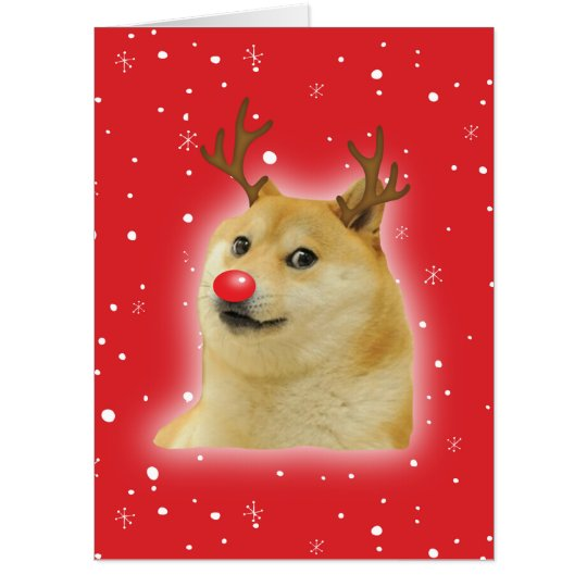 Dog Christmas Meme.Doge Dogright Doggo Dog Christmas Meme Card Red