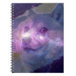 Doge Galaxy Spiral Notebook