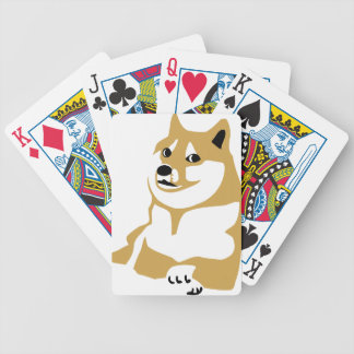 Doge - internet meme bicycle playing cards