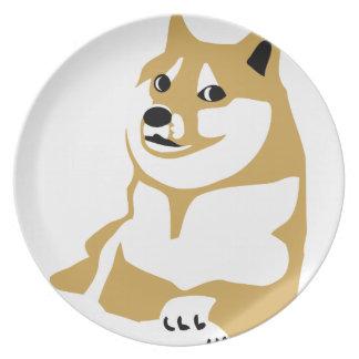 Doge - internet meme melamine plate