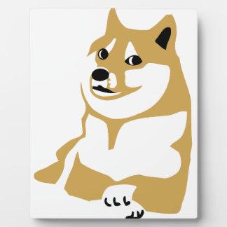 Doge - internet meme plaque