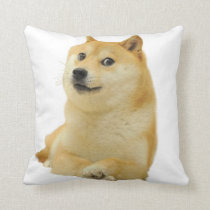 doge meme - doge-shibe-doge dog-cute doge throw pillow