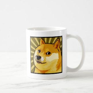 Doge Meme Square Doge Self Portrait Classic White Coffee Mug