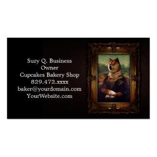 Doge Mona Lisa Fine Art Shibe Meme Painting Double-Sided Standard Business Cards (Pack Of 100)