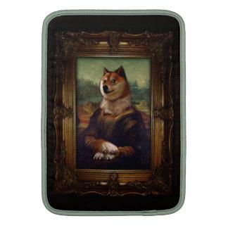 Doge Mona Lisa Fine Art Shibe Meme Painting MacBook Sleeves
