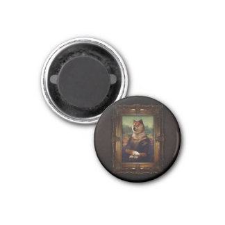 Doge Mona Lisa Fine Art Shibe Meme Painting Magnet