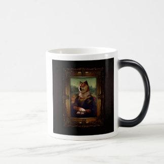 Doge Mona Lisa Fine Art Shibe Meme Painting 11 Oz Magic Heat Color-Changing Coffee Mug