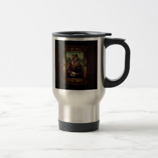 Doge Mona Lisa Fine Art Shibe Meme Painting 15 Oz Stainless Steel Travel Mug
