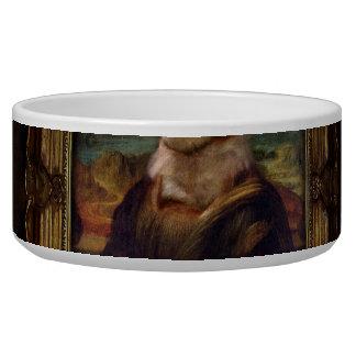 Doge Mona Lisa Fine Art Shibe Meme Painting Dog Bowls