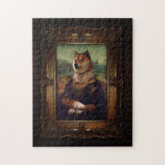 Doge Mona Lisa Fine Art Shibe Meme Painting Jigsaw Puzzles