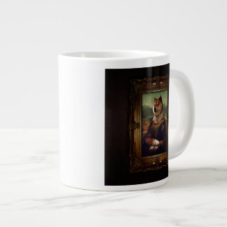 Doge Mona Lisa Fine Art Shibe Meme Painting 20 Oz Large Ceramic Coffee Mug