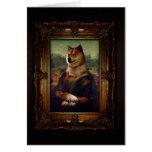 Doge Mona Lisa Fine Art Shibe Meme Painting Stationery Note Card