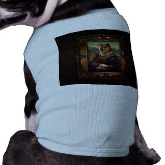 Doge Mona Lisa Fine Art Shibe Meme Painting T-Shirt