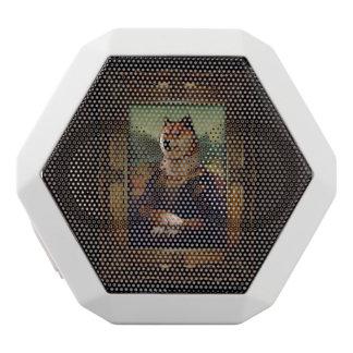 Doge Mona Lisa Fine Art Shibe Meme Painting White Boombot Rex Bluetooth Speaker