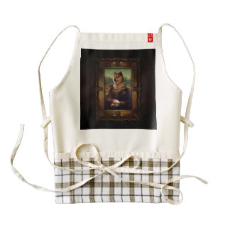 Doge Mona Lisa Fine Art Shibe Meme Painting Zazzle HEART Apron