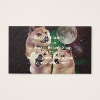 Doge moon - doge space - dog - doge - shibe business card