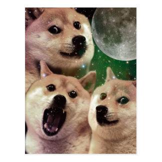 Doge moon - doge space - dog - doge - shibe postcard