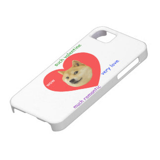 Doge Much Valentines Day Very Love Such Romantic iPhone 5 Cover