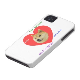 Doge Much Valentines Day Very Love Such Romantic iPhone 4 Covers