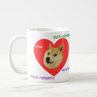 Doge Much Valentines Day Very Love Such Romantic Coffee Mug