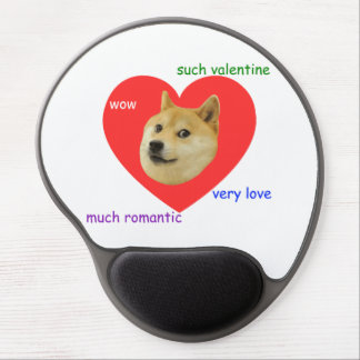 Doge Much Valentines Day Very Love Such Romantic Gel Mousepads