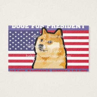 Doge president - doge-shibe-doge dog-cute doge business card