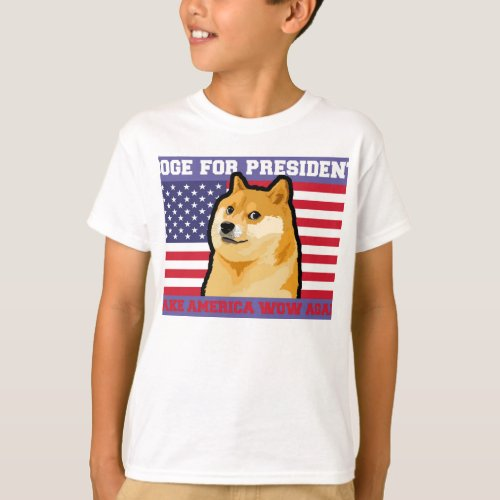 Doge president _ doge_shibe_doge dog_cute doge T_Shirt