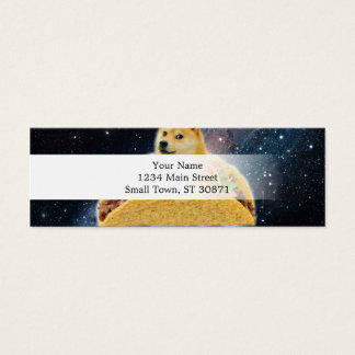 Doge taco - doge-shibe-doge dog-cute doge mini business card