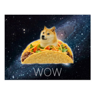 Doge taco - doge-shibe-doge dog-cute doge postcard