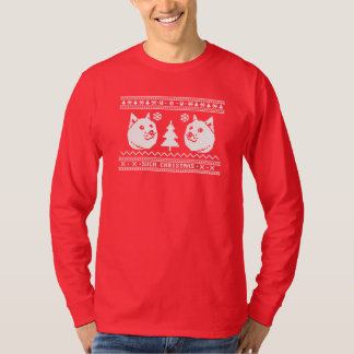 DOGE UGLY CHRISTMAS SWEATER PATTERN TEES