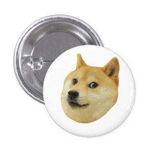 Doge Very Wow Much Dog Such Shiba Shibe Inu 1 Inch Round Button