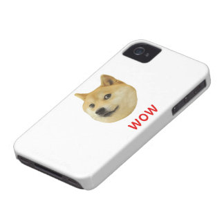 Doge Very Wow Much Dog Such Shiba Shibe Inu Case-Mate iPhone 4 Case