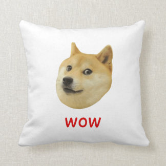 Doge Very Wow Much Dog Such Shiba Shibe Inu Throw Pillow