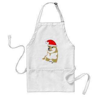 doge wow meme very xmas such hat many santa adult apron