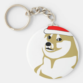 doge wow meme very xmas such hat many santa keychain