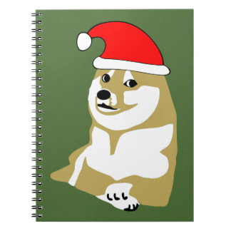 doge wow meme very xmas such hat many santa note book