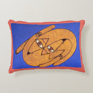 DogEatDog Modern Art Pillow