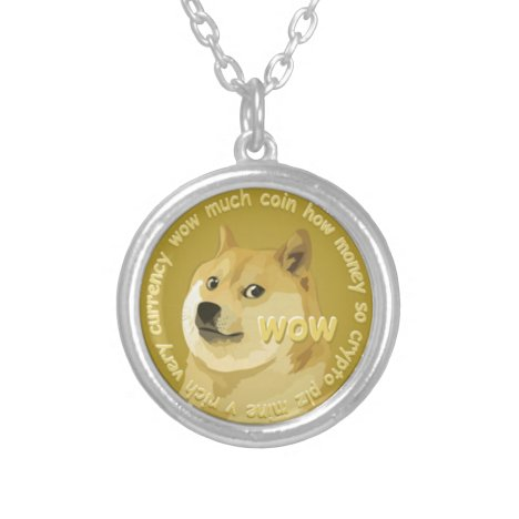 Dogecoin accessories- The Chatty Shiba Inu Silver Plated Necklace
