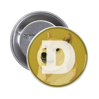dogecoin botom 2 inch round button