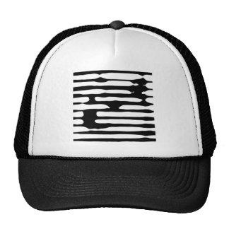 Dogecoin monocromático rayado abstracto gorras