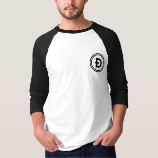 Dogecoin Wallet QR Code Round Shirt Both sides