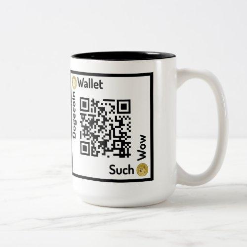 Dogecoin Wallet QR Code Square Mug