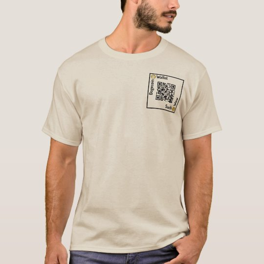 Dogecoin Wallet QR Code Square Shirt Pocket