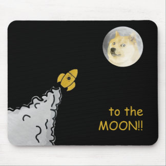 Dogepad - The Dogecoin Mouse Pad! Mouse Pad