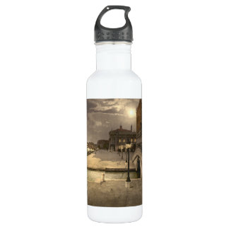 Doge's Palace by Moonlight, Venice, Italy Stainless Steel Water Bottle